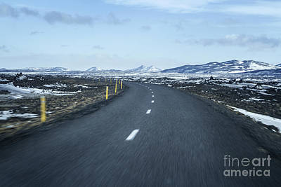 Winter Roads Photograph - The Speed I Need by Evelina Kremsdorf