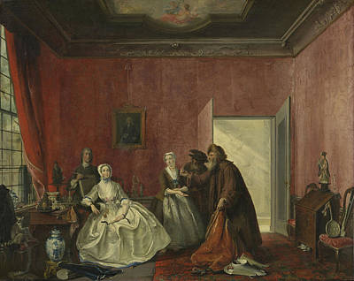 Jewish Art Drawing - The Spendthrift Or The Wasteful Woman, Act IIi by Litz Collection