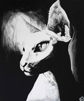 Sphynx Cat Painting - The Sphynx by Leia Sopicki