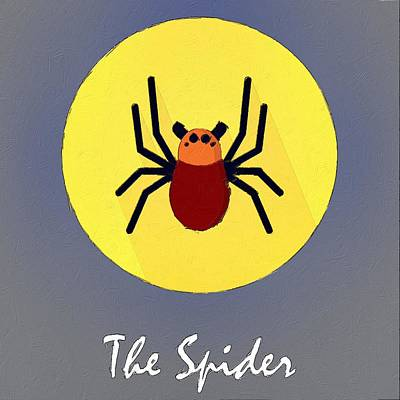 Painting - The Spider Cute Portrait by Florian Rodarte