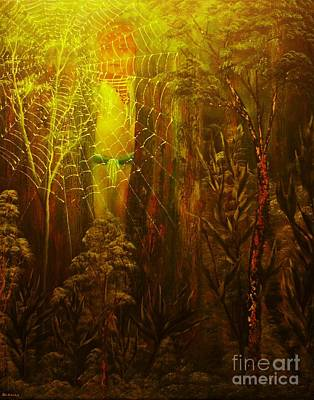 Painting - The Spider Watcher-original Sold- Buy Giclee Print Nr 35 Of Limited Edition Of 40 Prints  by Eddie Michael Beck