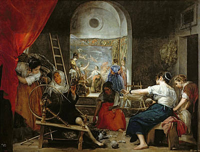 The Spinners, Or The Fable Of Arachne, 1657 Oil On Canvas For Detail See 36741 Art Print