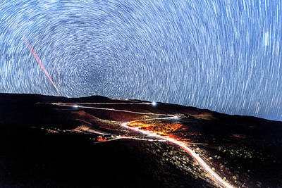 Photograph - The Spinning Sky Above Mauna Kea by Jason Chu
