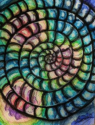 Spiral Mixed Media - The Spiral by Mimulux patricia no No