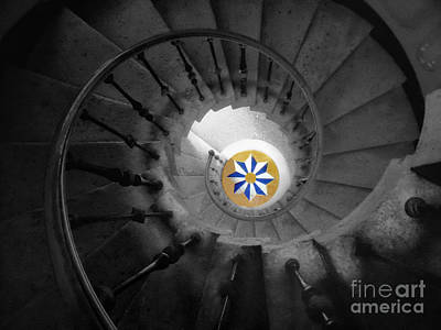 Scifi Portrait Collection - The Spiral Staircase of Villa Vizcaya BWColor by Mike Nellums