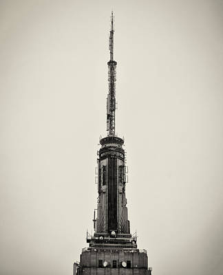 The Spire Of The Empire State Building Art Print by Bill Cannon