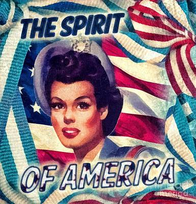 Old Mixed Media - The Spirit Of America by Mo T