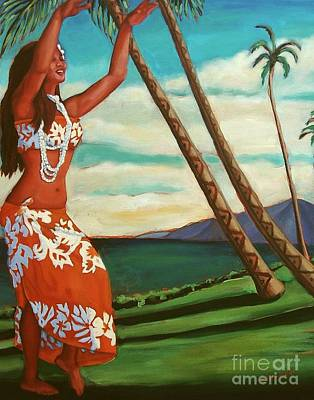 Hawaii Hula Dancer Painting - The Spirit Of Hula by Janet McDonald