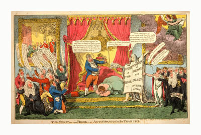 The Spirit Of The Book -or Anticipation Of The Year 1813 Art Print