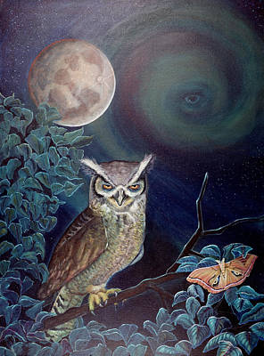 Painting - The Spirit Of The Night by Peter Bonk
