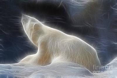 Bear Digital Art - The Spirit Of The Polar Bear by Teresa Zieba