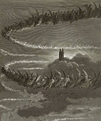 Dante Painting - The Spirits In Jupiter by Gustave Dore
