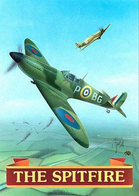 Painting - The Spitfire by Peter Green