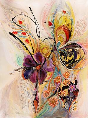 Modern Jewish Painting - The Splash Of Life Series No 2 by Elena Kotliarker