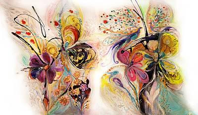 The Splash Of Life Series No 23 Art Print by Elena Kotliarker
