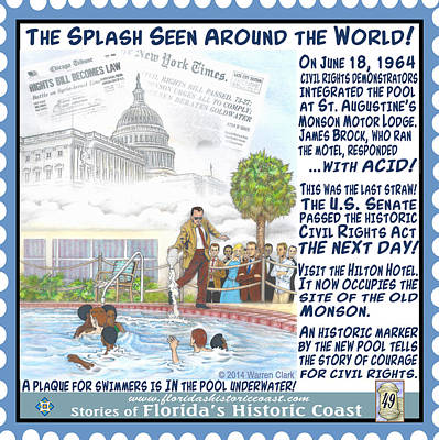 The Splash Seen Around The World Art Print