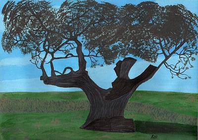 Painting - The Split Tree - Bradgate Park by Bav Patel