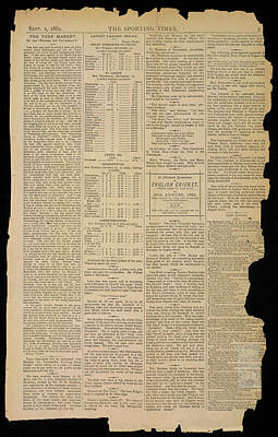 The Sporting Times Art Print by British Library