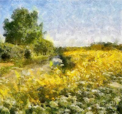 Dandelion Painting - The Springtime by Dragica  Micki Fortuna