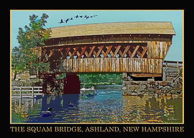 Loon Digital Art - The Squam Bridge by Nancy Griswold