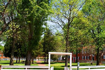 Photograph - The Square At Old Salem by Kathryn Meyer