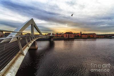 Sunset At The Bridge Photograph - The Squiggly Bridge by John Farnan