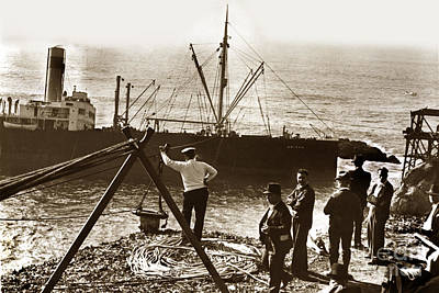 Photograph - The S. S. Ohioan A American-hawaiian Steamship Company Cargo Ship  1936 by California Views Archives Mr Pat Hathaway Archives