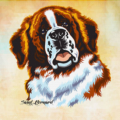 The St. Bernard Or St Bernard Original by Don Kuing