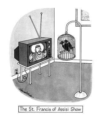 Bible Drawing - The St. Francis Of Assisi Show by J.B. Handelsman