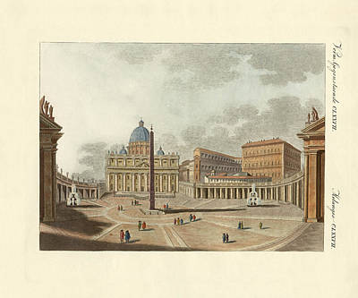 The St. Peter's Cathedral In Rome Art Print by Splendid Art Prints