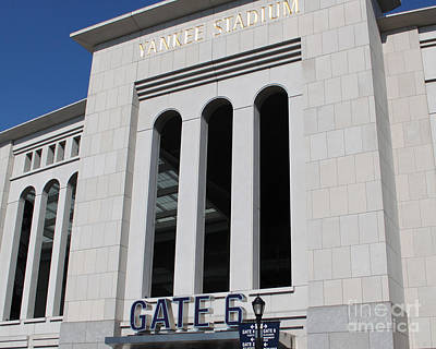 Yankee Legend Joe Dimaggio Photograph - The Stadium by Ann Addeo