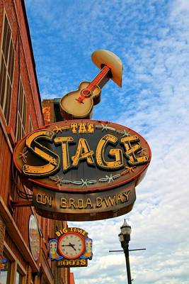 Downtown Nashville Photograph - The Stage On Broadway by Dan Sproul