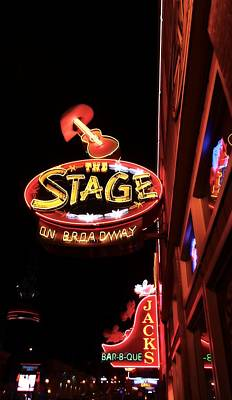The Stage On Broadway In Nashville Art Print by Dan Sproul
