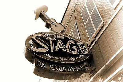The Stage On Broadway Nashville Tennessee Art Print