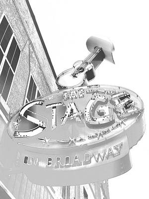 Nashville Tennessee Drawing - The Stage On Broadway Sketch by Dan Sproul