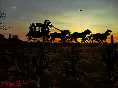 The American Dream Digital Art - The Stagecoach by Michael Rucker
