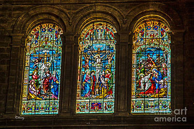 The Stained Glass Windows Of Malaga Cathedral Print by Rene Triay Photography