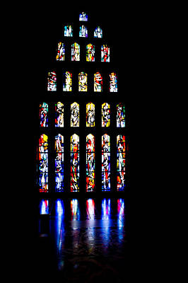Photograph - The Stained Glass Windows Of Mary's Church In Nazareth by Anthony Doudt