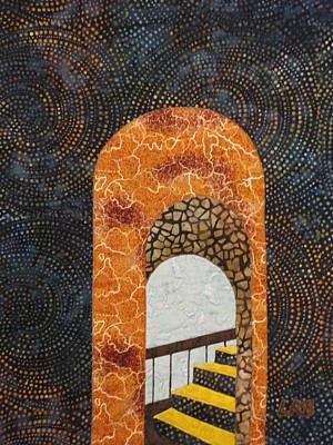 Lynda Boardman Art Tapestry - Textile - The Staircase by Lynda K Boardman