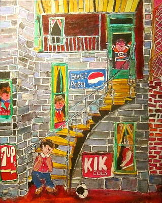 Seven-up Sign Painting - The Staircase by Michael Litvack