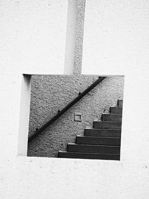 The Stairs In The Square Art Print
