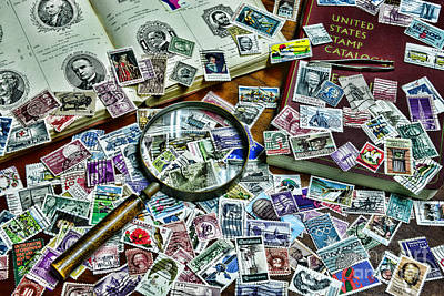 The Stamp Collector Art Print