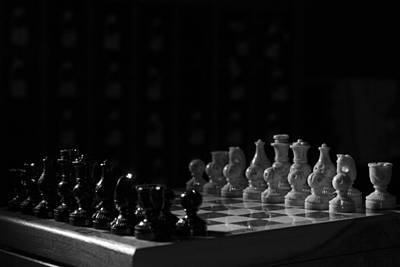 Marble Chess Boards Photograph - The Standoff by Joel Venzke