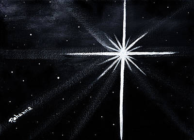 Painting - The Star by Judy M Watts-Rohanna