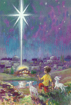 The Star Of Bethlehem  Art Print by Stanley Cooke