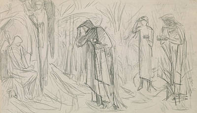 Pencil Drawing Of Jesus Drawing - The Star Of Bethlehem by Sir Edward Burne-Jones