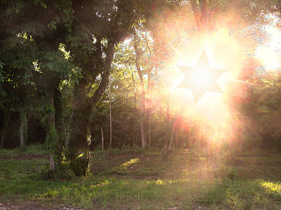 Photograph - The Star Of David Appeared by Anne Cameron Cutri
