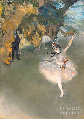 The Star Or Dancer On The Stage Art Print by Edgar Degas