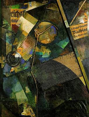 Modernist Mixed Media - The Star Picture 1920 by Kurt Schwitters