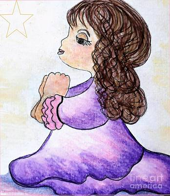Little Girl Painting - The Star Still Shines by Eloise Schneider